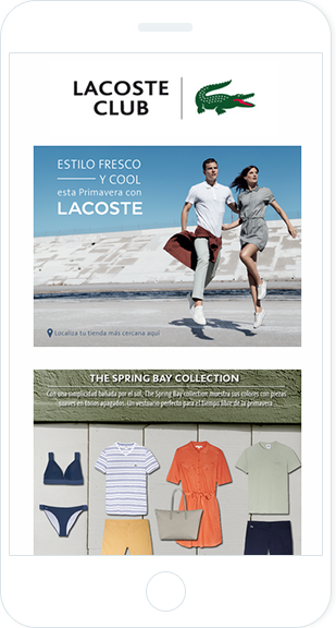 Email Marketing - Lacoste Mobile Announcement Email