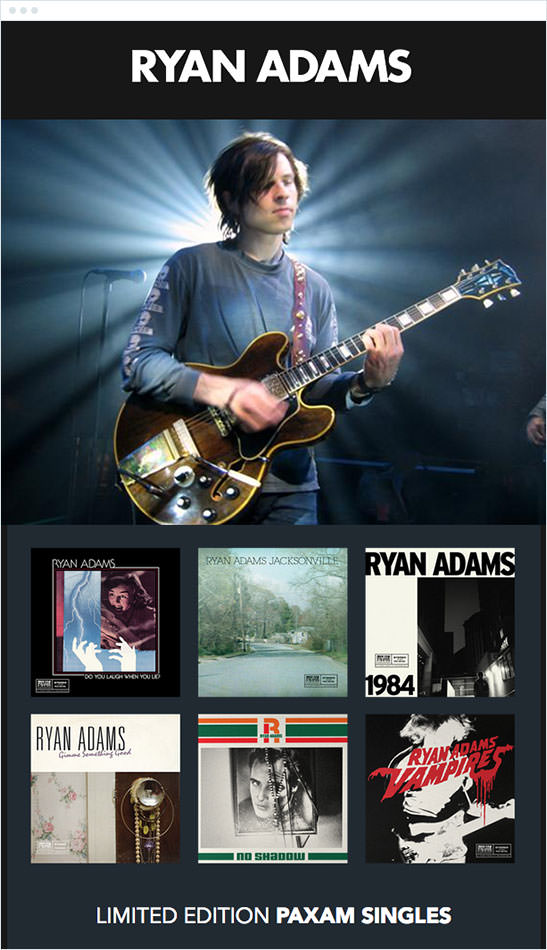 Email Marketing - Ryan Adams Announcement Email