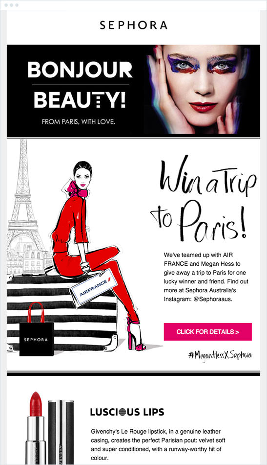 Email Marketing - Sephora Announcement Email