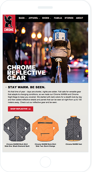 Email Marketing - Chrome Industries Mobile Marketing Offers Email