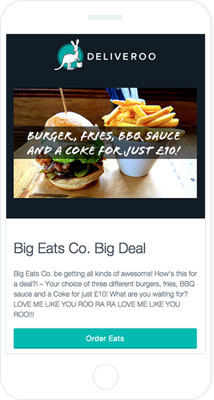Email Marketing - Deliveroo Mobile Marketing Offers Email
