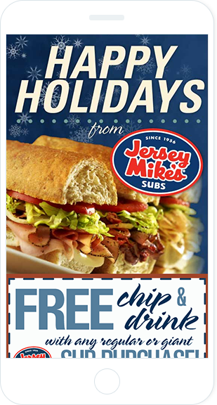 Email Marketing - Jersey Mikes Subs Mobile Marketing Offers Email