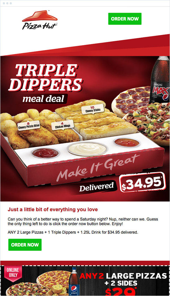 Email Marketing - Pizza Hut Marketing Offers Email