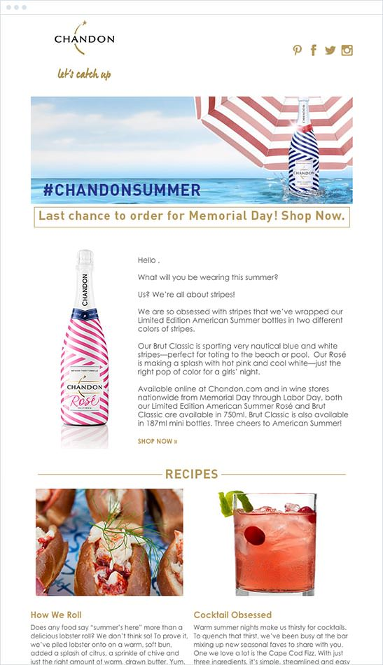 Email Marketing - Chandon Email Newsletter