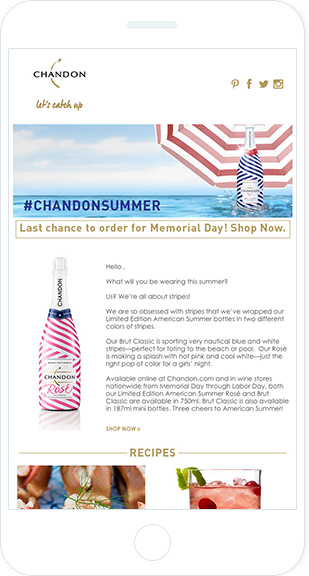 Email Marketing - Chandon Mobile Email Newsletter