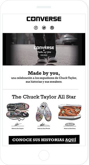 Email Marketing - Converse Mobile Email Newsletter