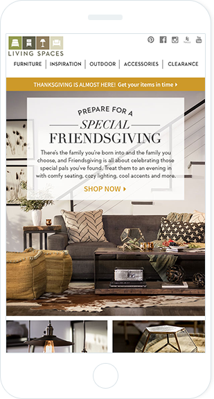 Email Marketing - Living Spaces Mobile Email Newsletter