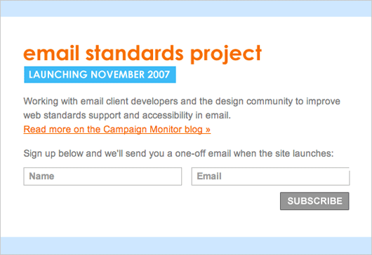 The new email standards project