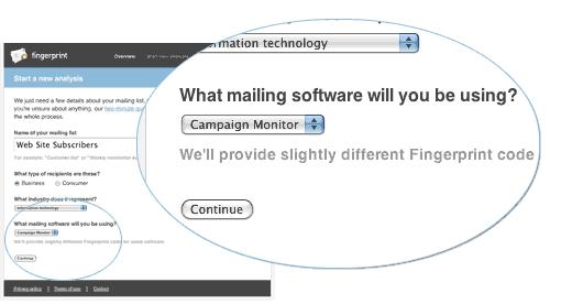 Fingerprint setup