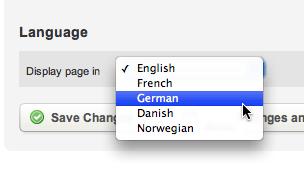 Selecting a language