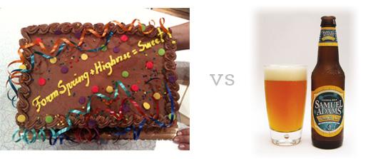 Cake vs beer