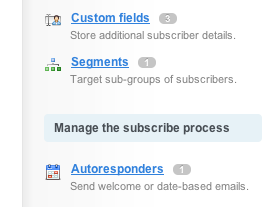 Where to find autoresponders in your account