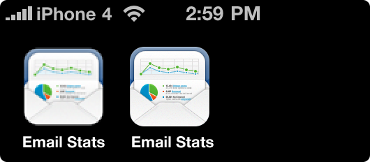Broken iOS4 icon redering for iPhone4