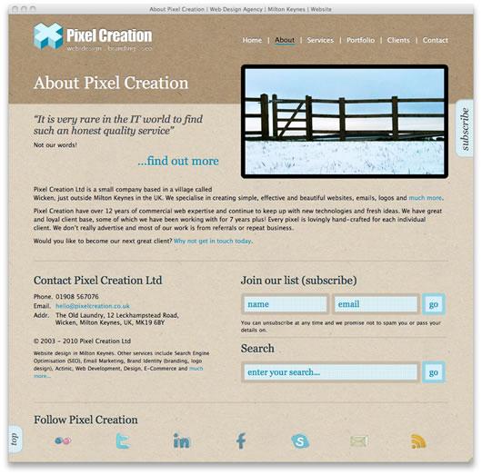 Signup form screenshot