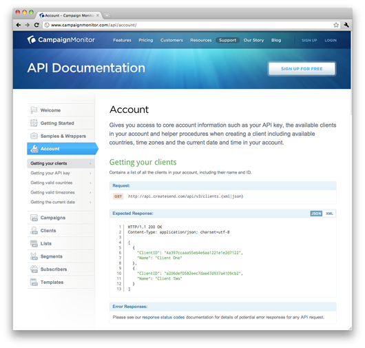 See the new API documentation