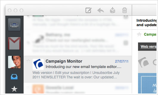 Campaign Monitor email in Sparrow