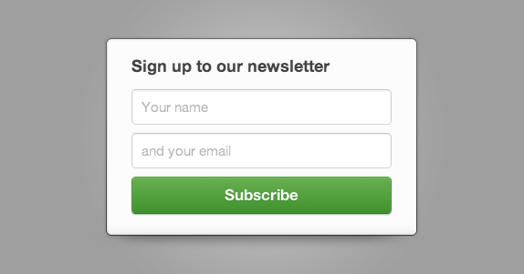 The subscribe form