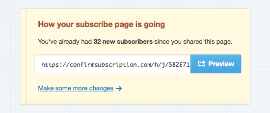 Signup count