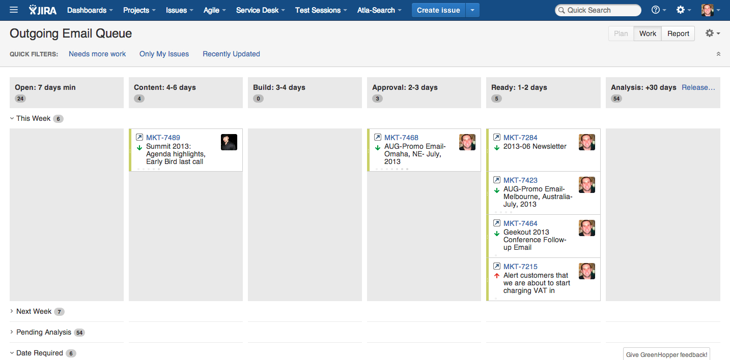 Outgoing email progress in JIRA