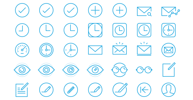 Some of the discarded icons