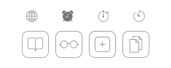 Iconography from iOS7