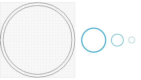 The underlying vector grid
