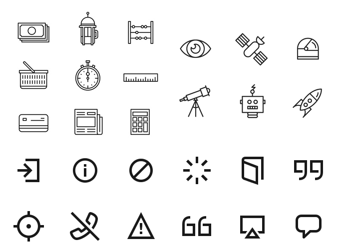 Finally, line icons with character