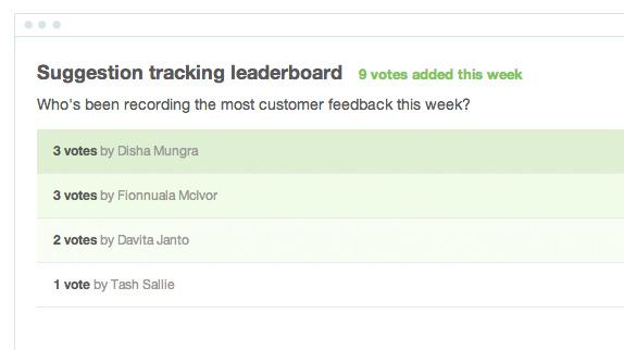 Suggestion Tracker Leaderboard