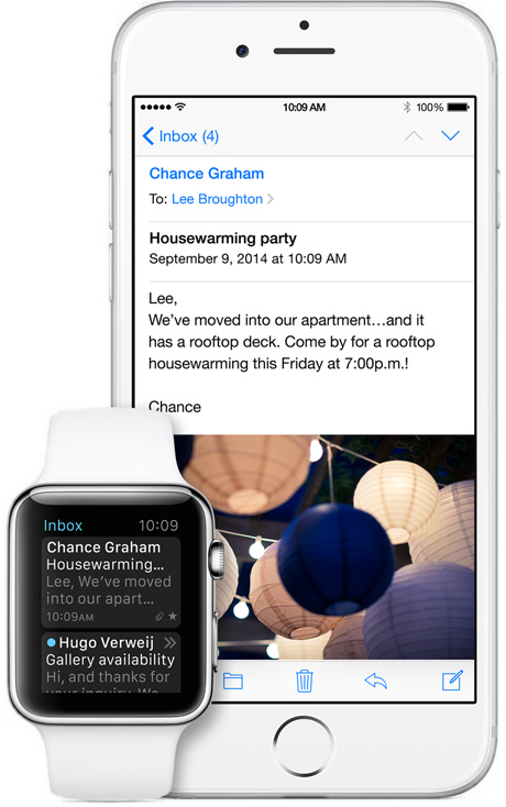 Apple's iOS email client and Watch