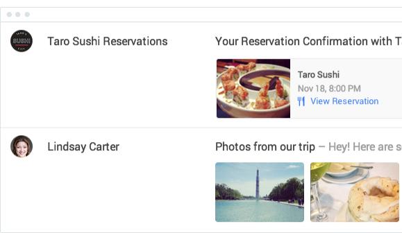 Google Inbox Highlights