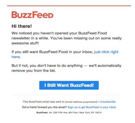 BuzzFeed Reengagement campaign