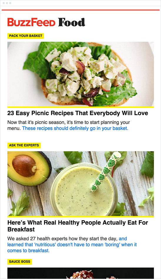 BuzzFeed email newsletter