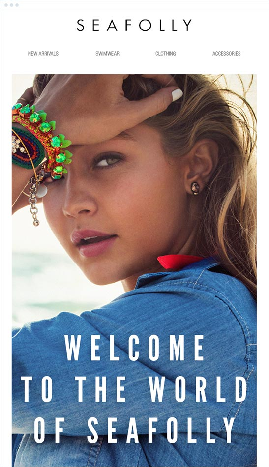 Seafolly welcome email