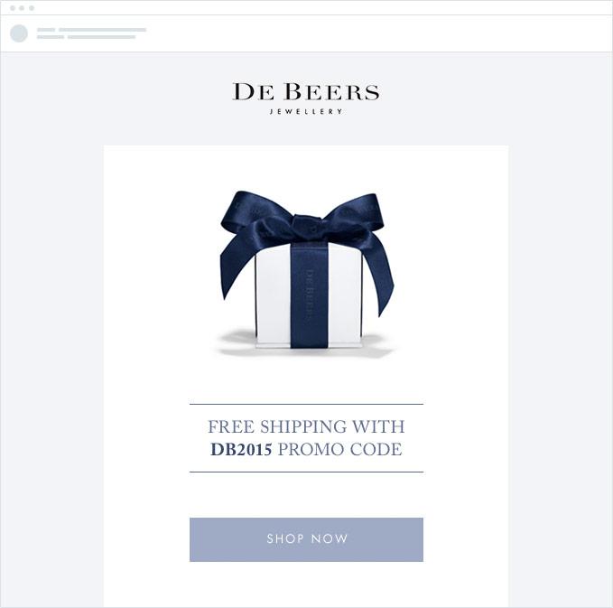 De Beers email example
