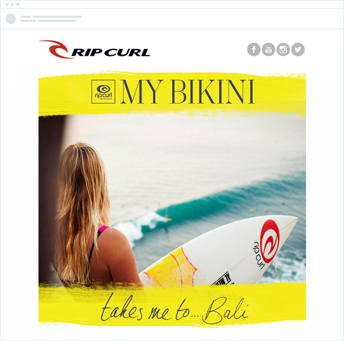 Rip Curl email example