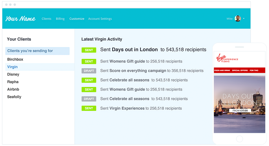Email Marketing for Agencies - Manage Client Campaigns