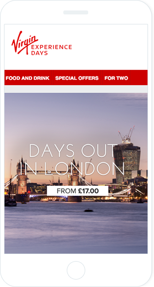 Virgin mobile friendly email example